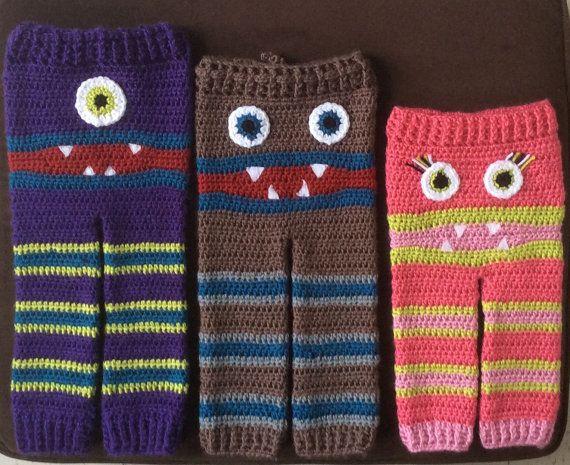 Kids Crochet Monster Bum Pants