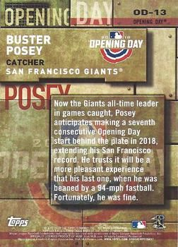 2018 Topps - MLB Opening Day #OD-13 Buster Posey Back