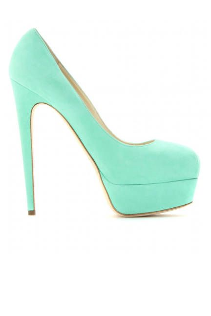 Statement Heels for Spring 2013 - Metallic, Bright, and Printed Pumps - ELLE