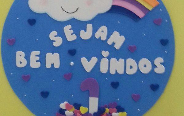 Plaquinha Bem Vindos Chuva De Amor Chuva De Amor Amor Chuva