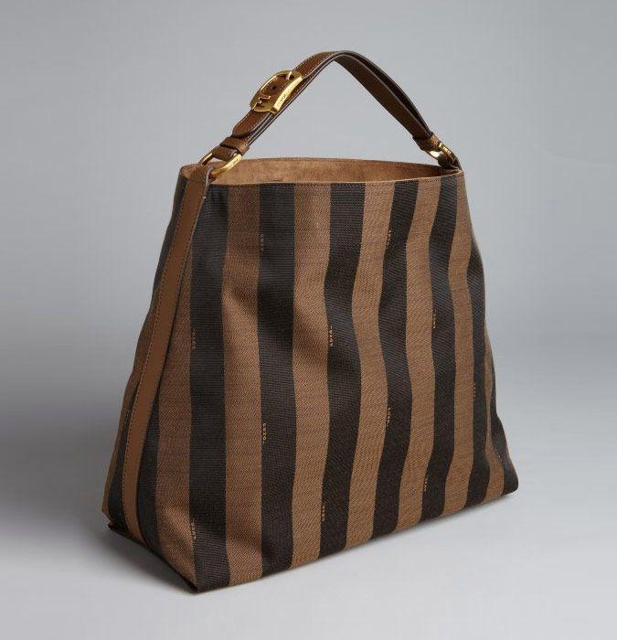 cd0e828f4a0 Fendi Striped Canvas Hobo Bag alan-ayers.co.uk