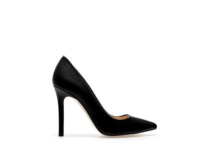 Image 1 of LEATHER COURT SHOE from Zara  | Neutral Pump