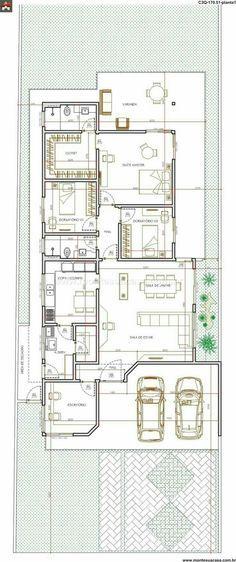 39 best fotos images on Pinterest Modern houses, House blueprints