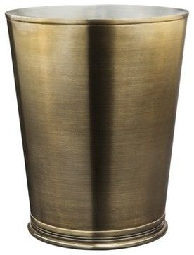 Threshold Bathroom Wastebasket, Brass/Gold - traditional - waste baskets - Target