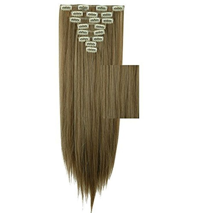 S-noiliteÃ'ÂUS Local Seller 23'' Straight 8pcs Full Head Clip in Hair Extensions (23-Straight, Ash Brown Mix Bleach Blonde) by US Fashion Outlet -- Awesome products selected by Anna Churchill