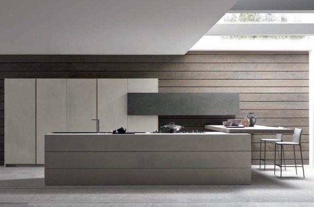 Concrete Kitchen by ModulnovaTwenty Cemento, Kitchens Design, Industrial Kitchens, Luxury Kitchens, Kitchens Ideas, Modern Industrial, Industrial Chic, Modern Kitchens, Concrete Kitchens