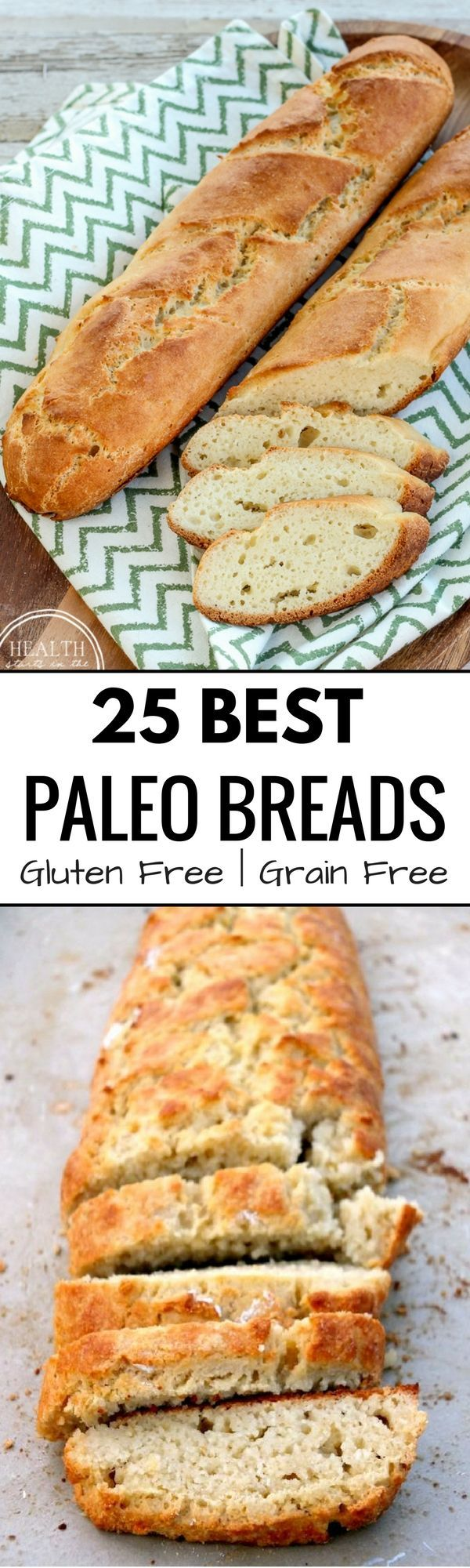 Best Grain free bread recipes! Paleo french bread. Easy to make sandwich bread. Delicious healthy bread recipes that are easy to