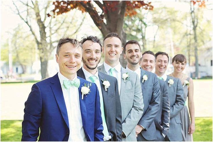 Photography: K Thompson Photography  Ceremony and Reception Venue: Royal Canadian Yacht Club, Toronto, Ontario  Groom's Attire: Z Zegna, Bright Blue Wool Mohair