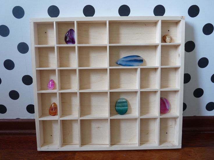 Unfinished unpainted plain display case box, wooden organizer, display shelf compartment, spice rack knick knack shelf display wall hanging by nkcraftstudio on Etsy