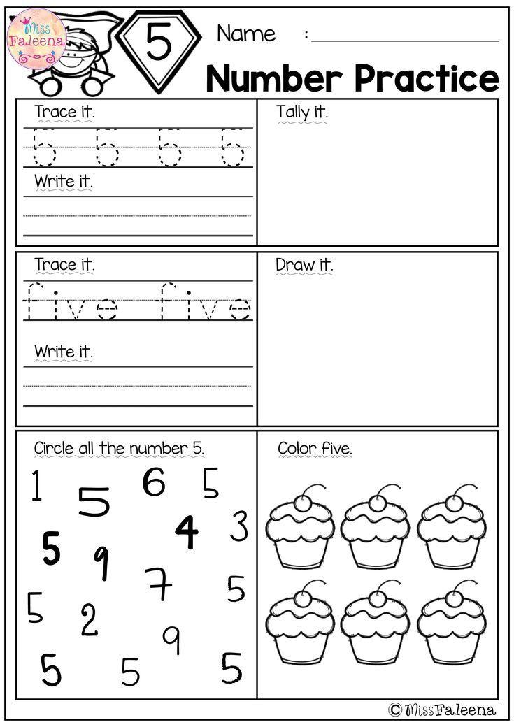 Pin Di Numbers Worksheets