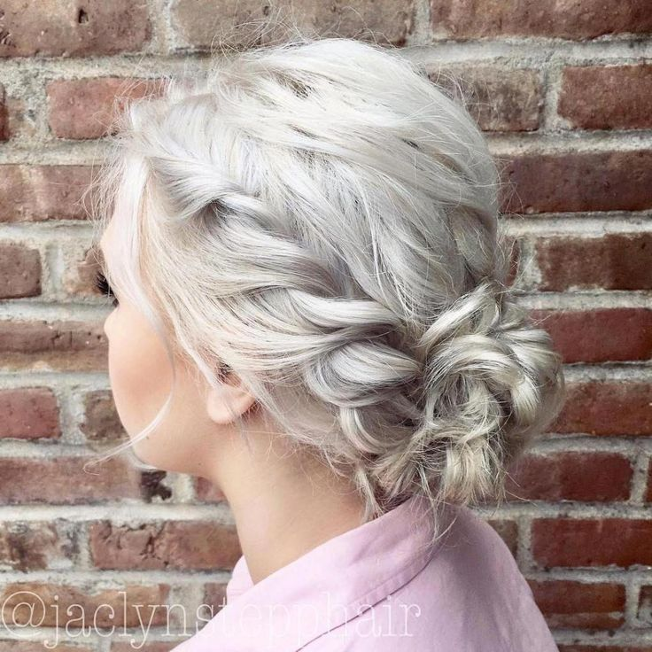 Messy Twists And Bun Updo For Bob #ShortPromHairstyles
