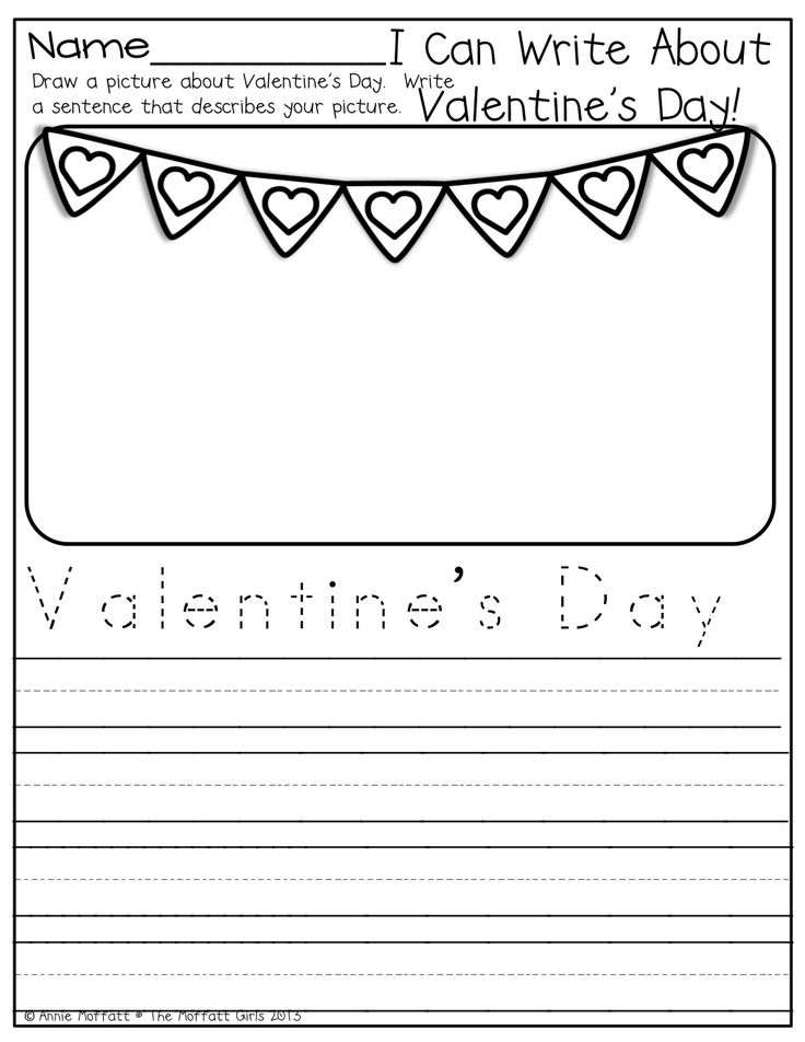 valentine's day writing task