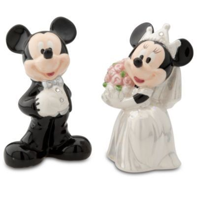 Disney Mickey & Minnie Wedding Salt & Pepper - http://spicegrinder.biz/disney-mickey-minnie-wedding-salt-pepper/