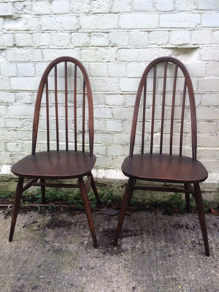 RELISTED: Vintage 1960s Ercol Quaker Dining Chairs Mid Century Beech Elm  Wood 6 Available | - 26 Best Vintage Furniture Images On Pinterest Mid Century