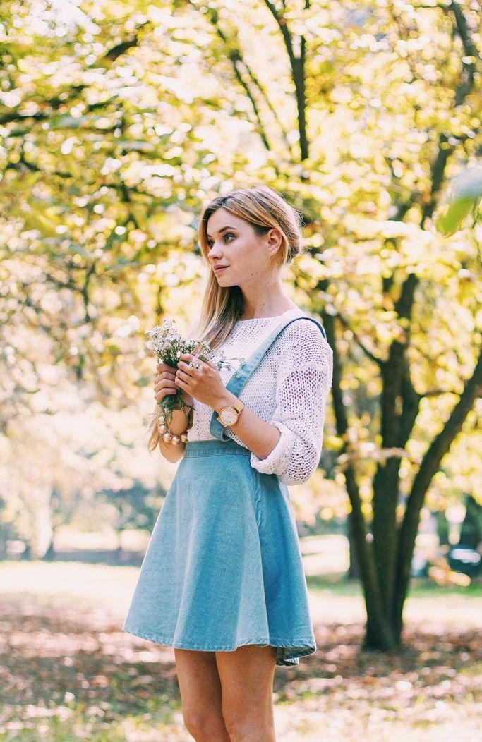 jeansowa spódniczka i szelki   Juliette in Wonderland
