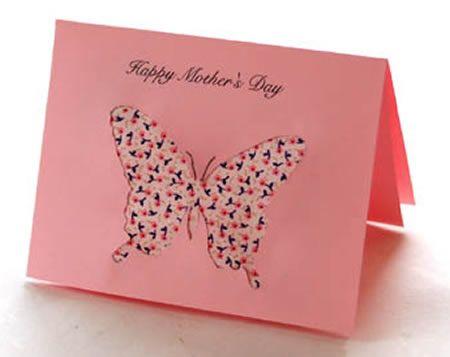Cartão com papel e tecido para o Dia das Mães com molde | Como fazer em casa
