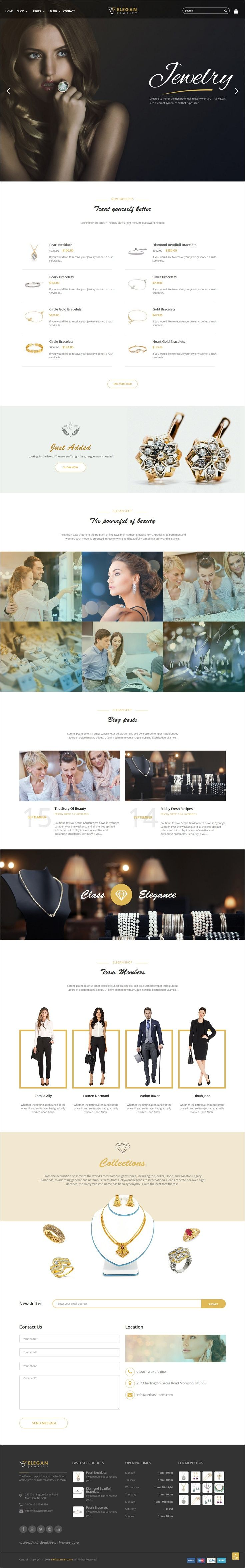 Jewelry is an stunning responsive #WordPress theme for #Jewelry #diamond #goldsmith shop eCommerce website download now➩ https://themeforest.net/item/premium-jewelry-wordpress-theme/18042440?ref=Datasata