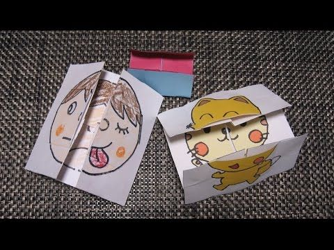 kimie gangiの工作教室 絵が変わり続ける4面カードの作り方Ver.2