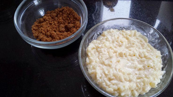 Rijspap met bruine suiker