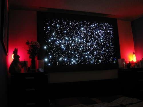 #Star Map: Optical Stars, Starry Night, Starmap, Diy Fiber, Stars Maps, Christmas Trees, Fiber Optical, Diy Projects, Crafts