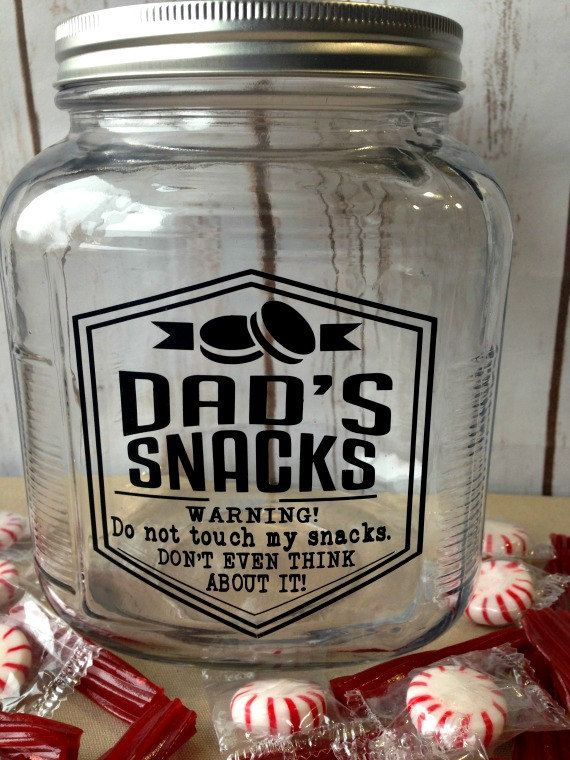 Funny Gift Dad S Snack Jar Glass Snack Jar Etsy Snack Jars Funny Gifts For Him Jar