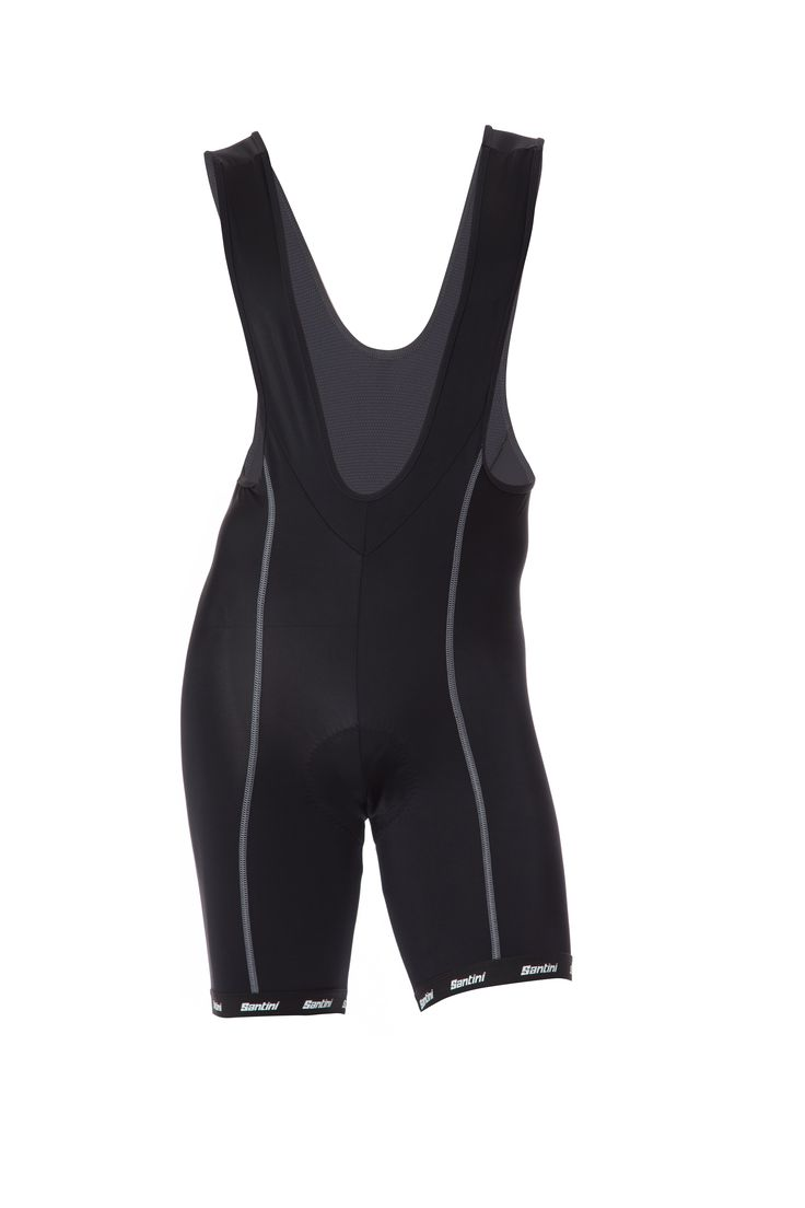 Men's US Sportivo Cycling Bib Shorts (MAX Pad) in Black - made in Italy by Santini