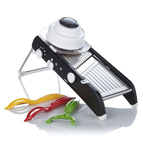 PL8 Mandoline Slicer and 3-piece Snap-Fit Peeler Set ...