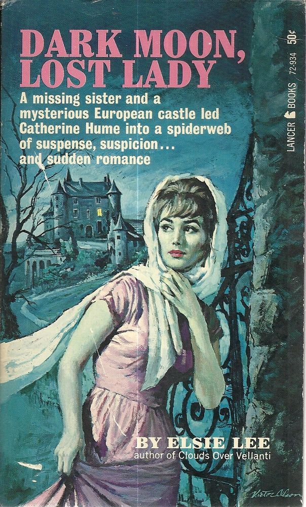 Dark Moon, Lost Lady Elsie Lee GGA Gothic Vintage Paperback VG+