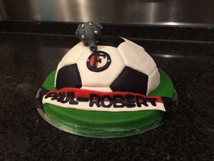 Feyenoord taart met Ollie