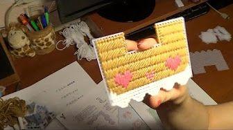 DIY Вышивка по пластиковой канве 3D Домик с мансардой. Посылка из Китая №164 - YouTube