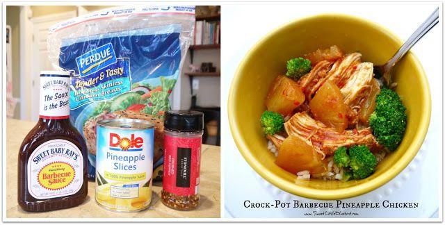 Crock-Pot Barbecue Pineapple Chicken