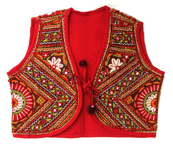 Hey, I found this really awesome Etsy listing at https://www.etsy.com/listing/240438848/gujarat-vintage-handmade-embroidery-vest