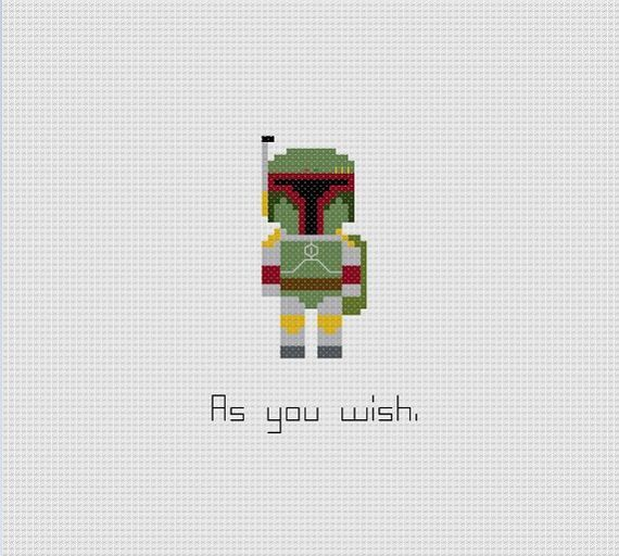 Star Wars Boba Fett Quote Cross Stitch Pattern