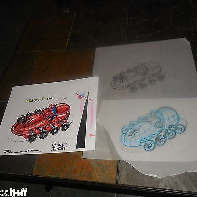 3 PC LOT MARVEL SPIDERMAN ORIGINAL ART BURGER KING FAST FOOD TOY PULL-BACK CAR