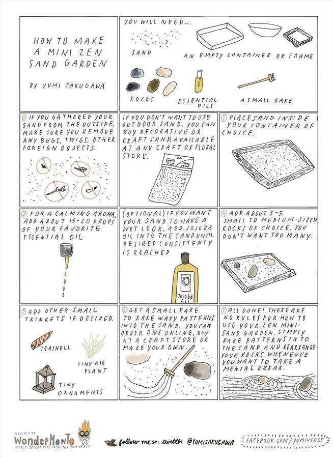 How to Make a Miniature Meditative Zen Garden for Your Desktop « The Secret Yumiverse