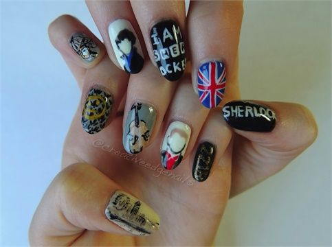 Day 4: Sherlock Nail Art