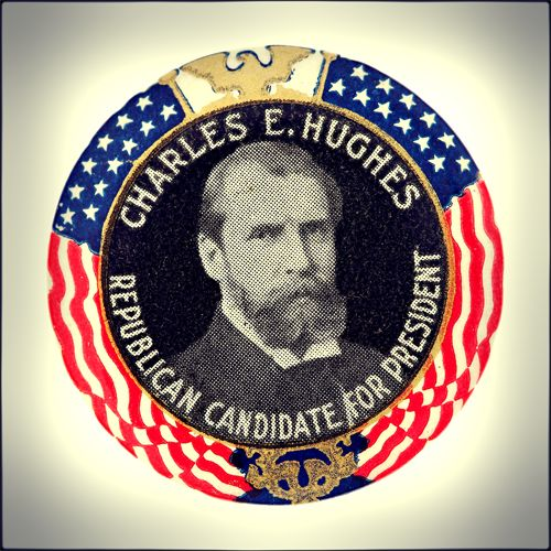 In 1916, former New York Governor Charles Evans Hughes campaigned for the presidency on the Republican Party ticket against incumbent Democratic President Woodrow Wilson.