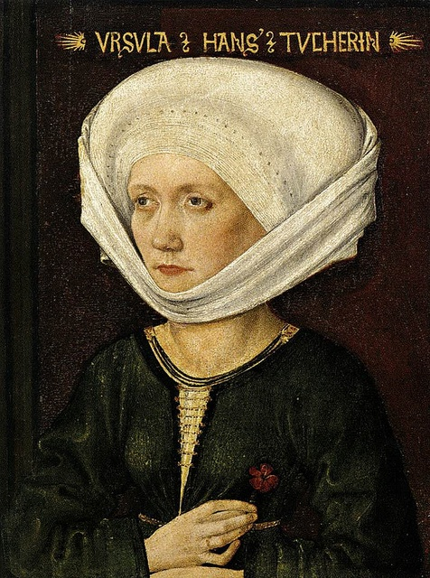 Portrait of Ursula Tucher by Michael Wolgemut (1434 - 1519):