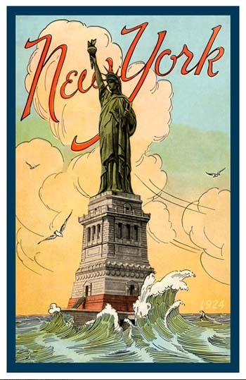 Illustrated Statue of Liberty