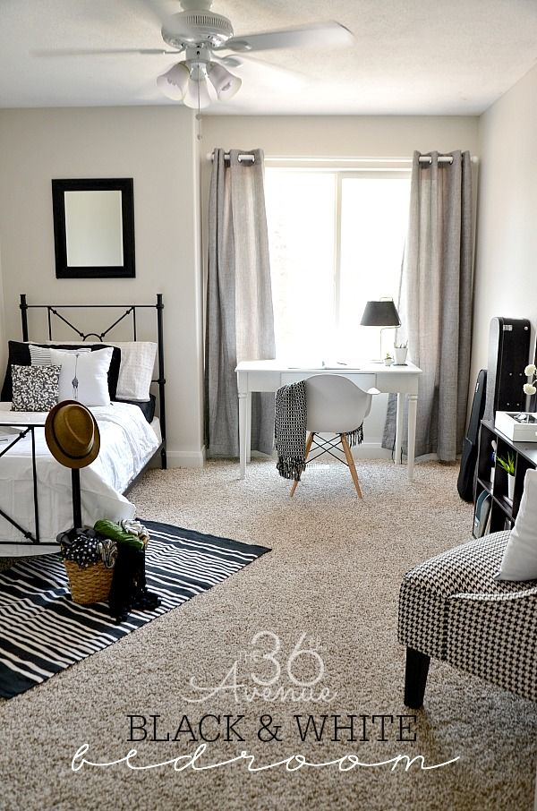 Black And White Bedroom Makeover At The36thavenue