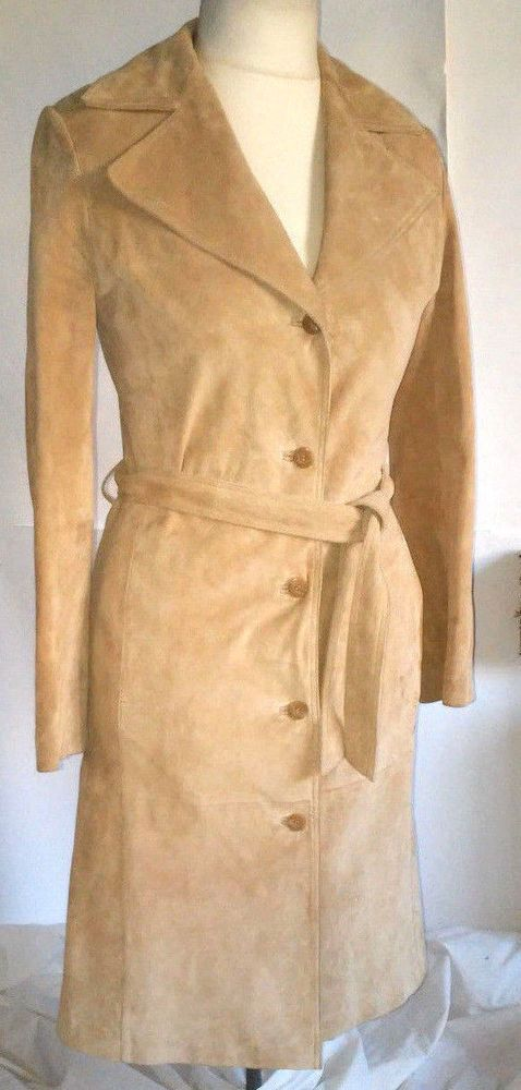 luxurious Gypsy woman   Beige & Cream real  Leather -  Suede  coat   size S #Gypsy #BasicJacket
