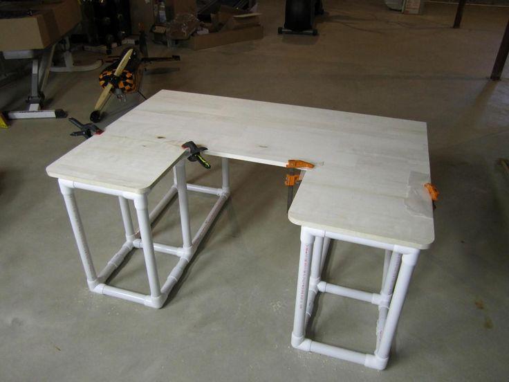 Pvc desk pinteres for Plastic pipe furniture