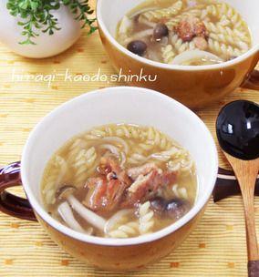 生姜でポカポカ◎焼き鳥缶で和風マカロニスープ|レシピブログ