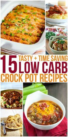These low carb crock pot recipes are super tasty and will save you a lot of time in the kitchen.