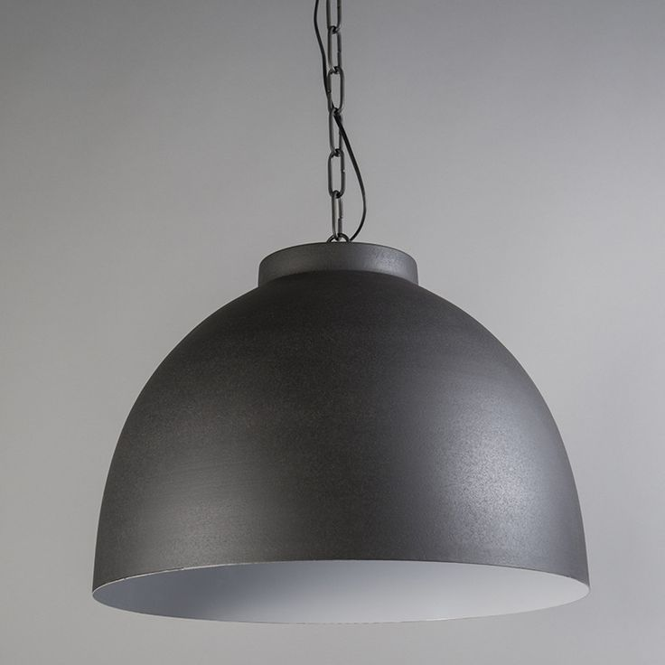 Lámpara colgante HOODI  XL gris-blanco