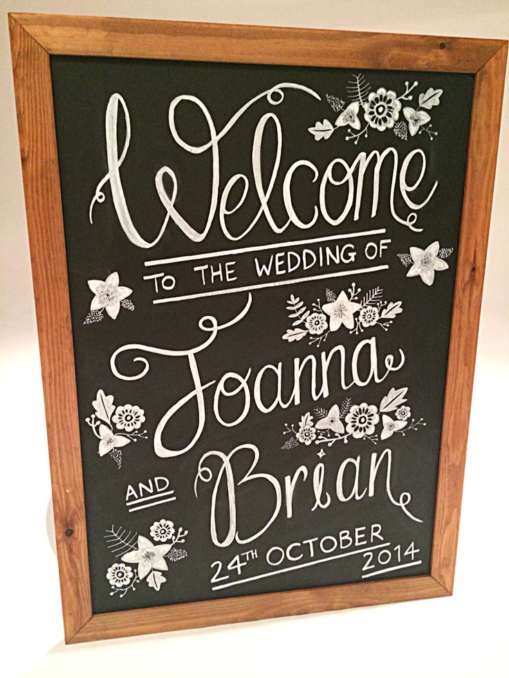 Chalkboard Welcome Sign by Made Marvellous 100% hand drawn