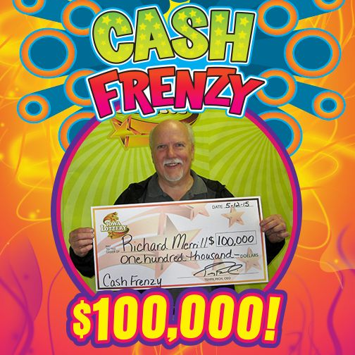 Richard Merrill of Abington, Mass. was extremely happy today as he claimed a $100,000 top prize he won playing the Cash Frenzy scratch game! #WooHoo‬ Richard purchased his winning ticket at Hy-Vee, 1700 E. Washington St. in Mt. Pleasant. Congratulations Richard! Apparently Richard is a pretty lucky guy. He said he travels all over the country for his job and has won $10,000 twice playing the Massachusetts State Lottery! Sweet! Someone shake his hand for luck! LOL