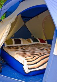 Tent Glamping. I like, hubster would laugh. Whatever keeps the wifey happy is what makes Glamping a great idea.