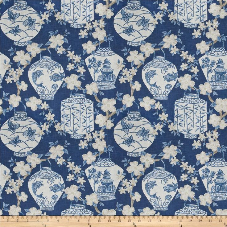 Jaclyn Smith 03710 Navy from @fabricdotcom  Screen printed on 55% linen, 45% rayon, this medium/heavyweight fabric features an asian pattern and is perfect for window accents (draperies, valances, curtains, and swags), accent pillows, duvet covers, and upholstery projects.