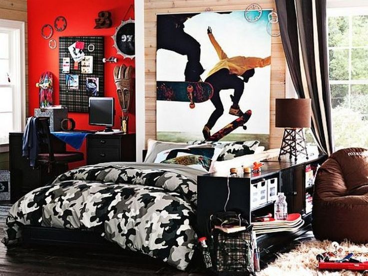 Skateboard Decorations 24 best teenage boy bedrooms images on pinterest | teenage boy